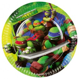 Ninja Turtles Pappteller 8 Stück