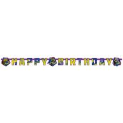 Ninja Turtles  Happy Birthday Banner 1,80m