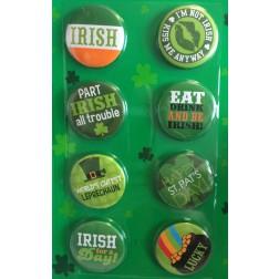 St. Patricks Day Buttons 8 Stück