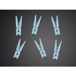 Holzklammern in Blau 20 Stück