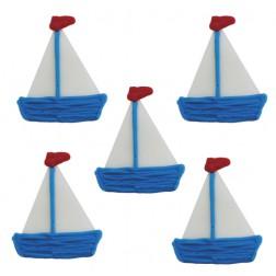 Zuckerdekor Segelschiff 5 Stück