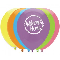 Luftballons Welcome Home 6 Stück