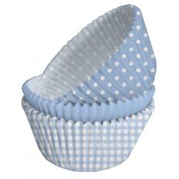 Cupcake Formen blau 75 Stück
