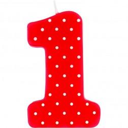 Geburtstagskerze Rot 1