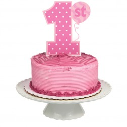 Topper 1. Geburtstag rosa