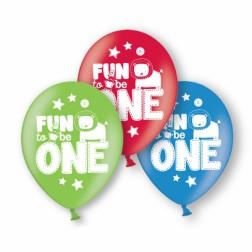 Luftballons Fun to be One Boy 6 Stück