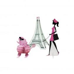 Tischdeko Party in Paris 3D 3er Set