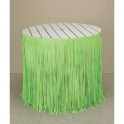 Tischverkleidung grün aus Hula Hawaii Party