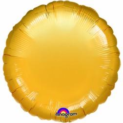 Folien Ballon Rund Gold 45cm