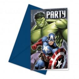 Avengers Multi Heroes Einladungskarten 6 Stück