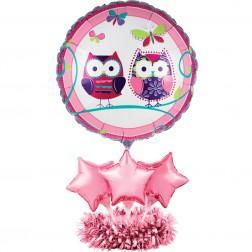 Air Filled Folien Ballon Set Eule