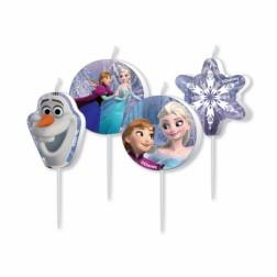 Frozen und Olaf Mini Kerzen 4 Stück