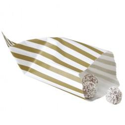 Papiertüten - gold, creme 25Stück