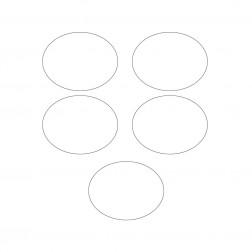 Sticker Oval in Weiß 10 Stück