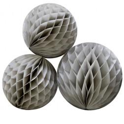 Wabenbälle Grau 3 Stück