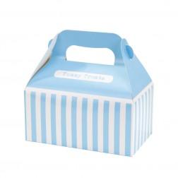 Partyboxen gestreift Blau 4 Stück