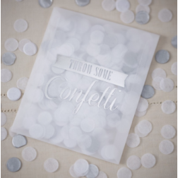 Tissue Konfetti Silber 14g