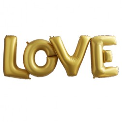 Love Folienballon Gold 91cm