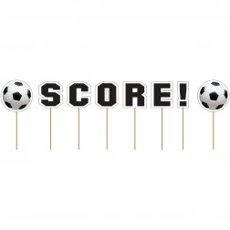 Cupcake Picks Fußball SCORE! 8 Toppers
