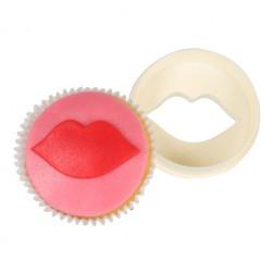FMM Ausstecher Cup Cake Cutters doppelseitig Kussmund