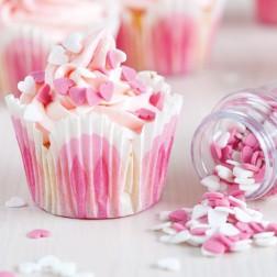 FunCakes Streudekor Herz Pink Weiß 60g