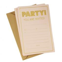 Einladungskarten mit Goldenen Umschlag Pastel Perfection 10 Stück
