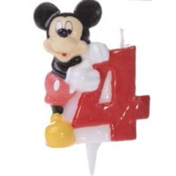 Zahlenkerze Mickey 4