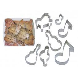 Ausstechformen Set Musik 7 Stück