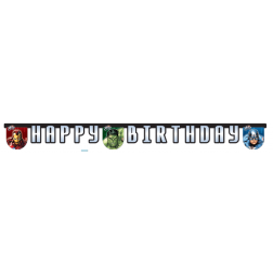 Avengers Multi Heroes Happy Birthday Banner 1,7m