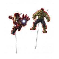 Avengers Multi Heroes Trinkhalme 6 Stück