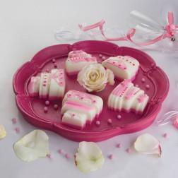 Silikonbackform Wedding Cake mit Rezeptheft rosa
