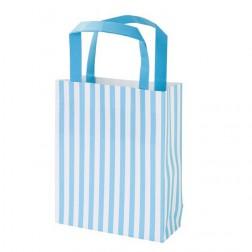 Papiertasche blau 8 Stück