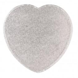 Tortenplatte Herz Silber 25cm