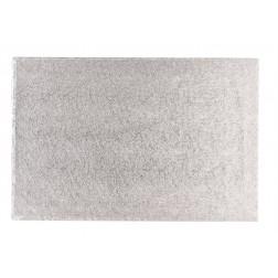 Tortenplatte Silber Rechteckig 35 x 25cm