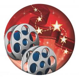 Pappteller klein Hollywood 8 Stück