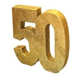 Tisch Deko 50. Geburtstag Gold
