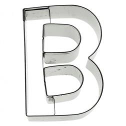 Ausstechform Edelstahl Buchstabe B 6cm
