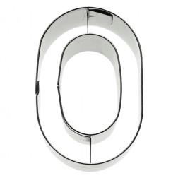 Ausstechform Edelstahl Buchstabe O 6cm