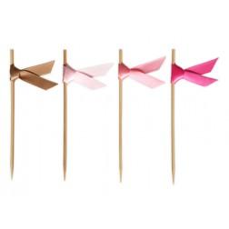 Schleifensticks Bändern Gold Pink 40 Stück