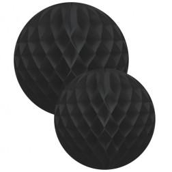 Wabenbälle Schwarz 2 Stück