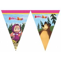 Masha und der Bär Flaggen Banner 2,3m