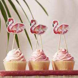 Flamingo Cupcake Toppers 8 Stück