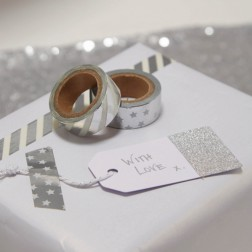 Washi Tape Metallic Perfection Silber Klebeband 2 Rollen je 5m