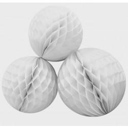 Wabenbälle Weiß 3er Set