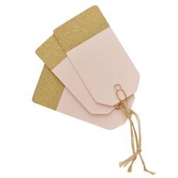 Geschenkanhänger Pastel Perfection rosa, gold 12 Stück