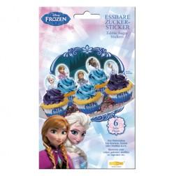Essbare Frozen Zucker Sticker 6 teile
