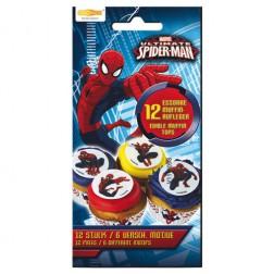 Essbare Spider Man Zucker Sticker 8 Stück