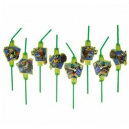 Trinkhalme Ninja Turtles 8 Stück