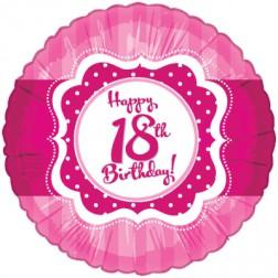 Folienballon 18. Geburtstag Perfectly Pink 45cm