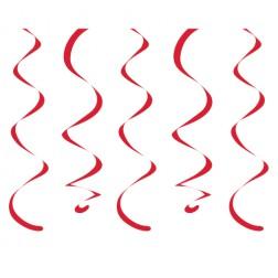 Spiralgirlanden rot 10 Stück